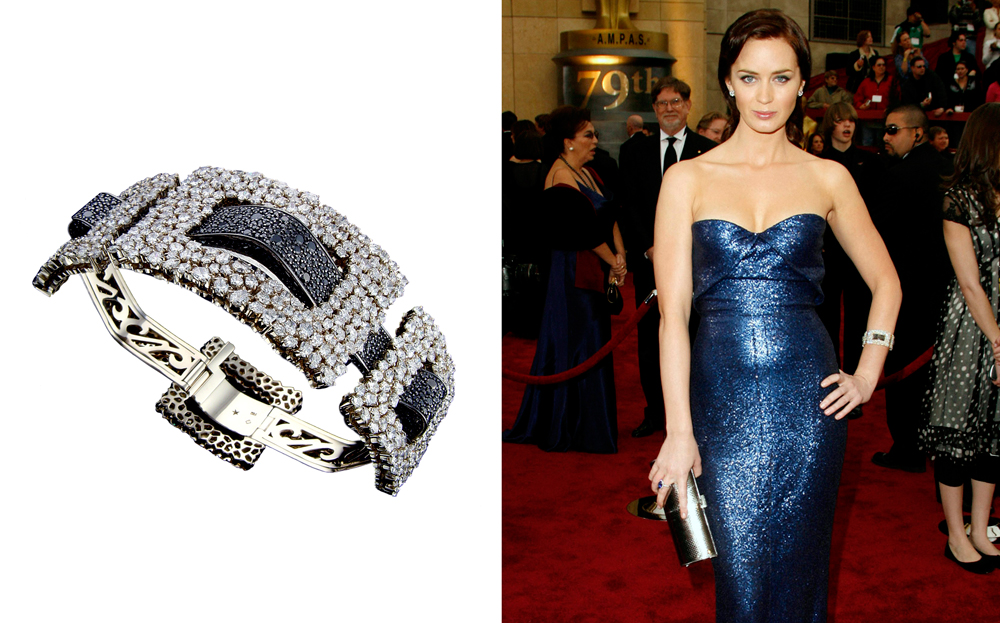 Emily-Blunt-at-Oscars-2007-wearing-Stern-Star-Bracelet