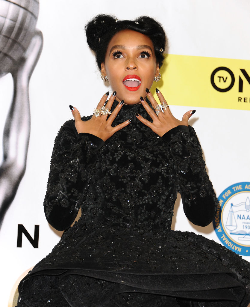 Janelle-Monae in Stars and Genesis H.Stern  Collection - 48th-NAACP-Image-Awards