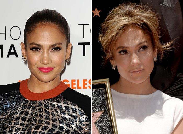 Jennifer Lopez com brincos Stars