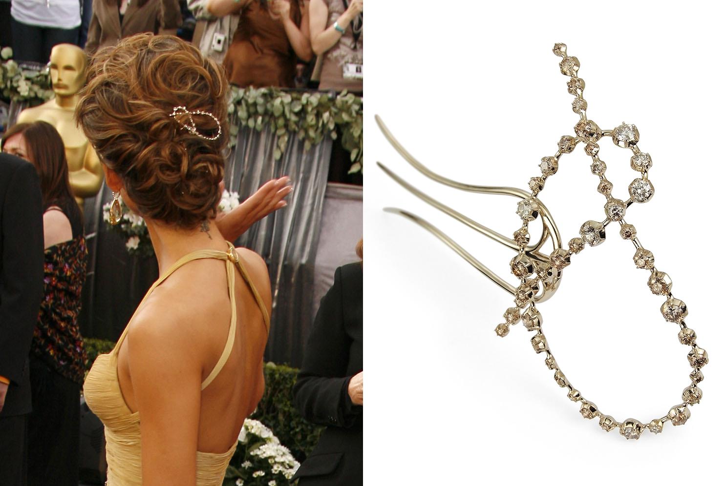 Jessica Alba chegando no 78th Academy Awards com pente Zephyr
