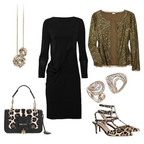 Jaqueta J Crew, sapatos Valentino, bolsa Jimmy Choo, vestido Mason Martin Margiela, pendente Galileu e anéis Mya Maris.