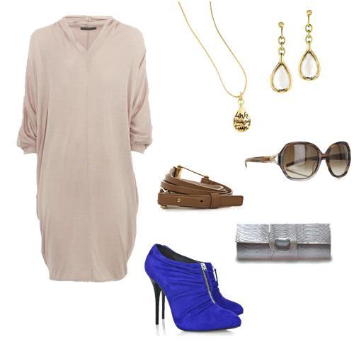 Vestido de Alexander McQueen, joias DVF, cinto e óculos de Jil Snader, sapato Giusseppe Zanotti e bolsa carteira prata