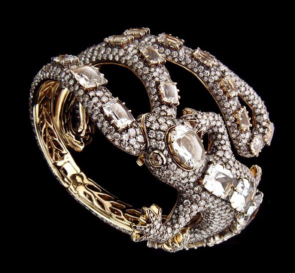 Lizard bracelete diamantes