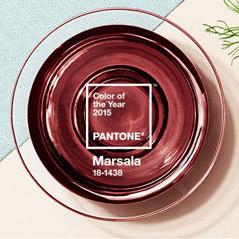 Inspire-se com Marsala, a cor de 2015!