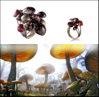 Floresta de Cogumelos - dois tamanhos