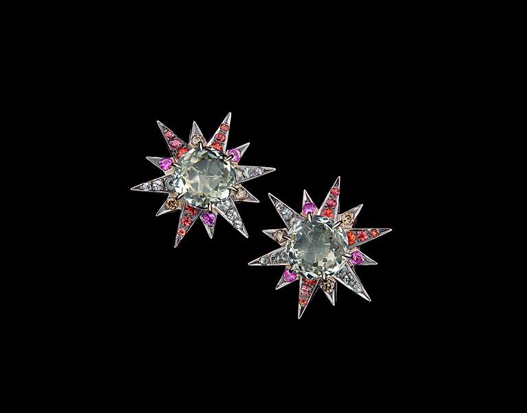 Brincos Stars Sapphires