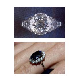 Anéis de noivado da realeza e as alianças saídas de uma mesma pepita de ouro