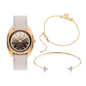 Chic mix de relógios e pulseiras