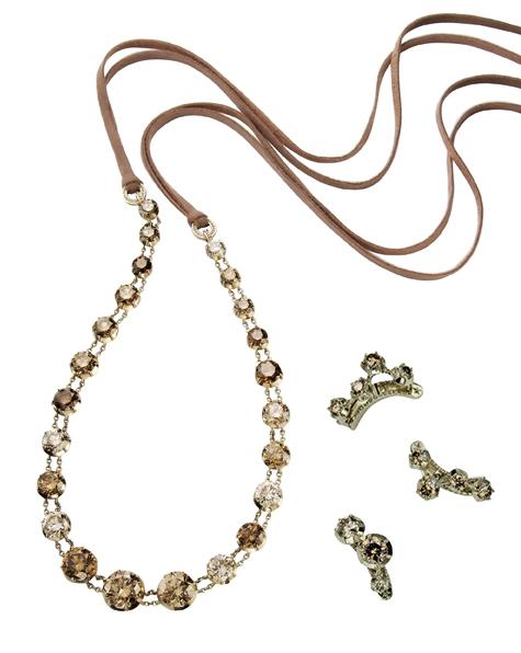 Tiara e grampos da coleção Zephyr, de Ouro Nobre e diamantes